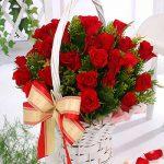 giỏ hoa hồng 1014