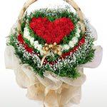 lẵng hoa hồng trái tim 1022